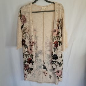 Live In The Moment Floral Cardigan Size Small